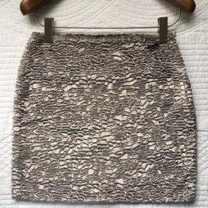 Anthropologie Poleci Faux Fur Ridged Skirt